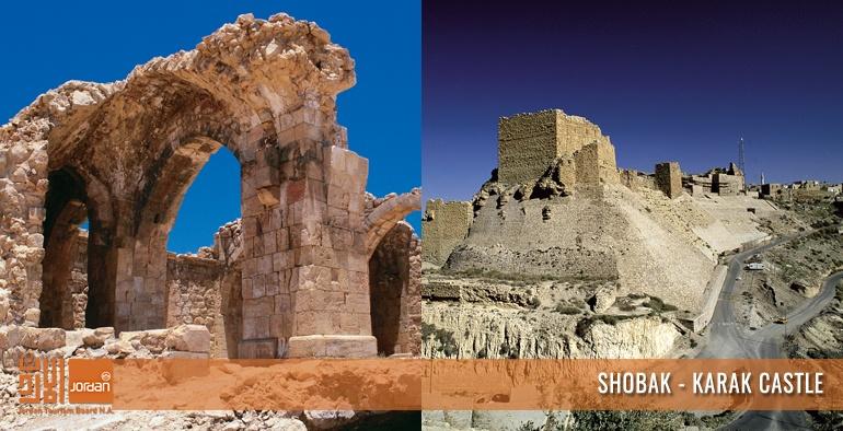 Karak - Shobak Castle - Overnight in Petra