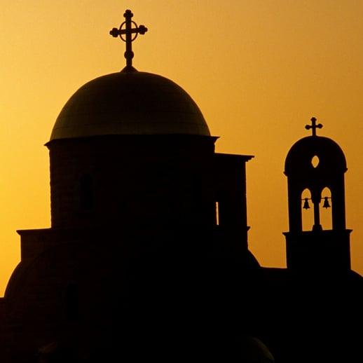Bethany beyond the Jordan-church silhouette-1