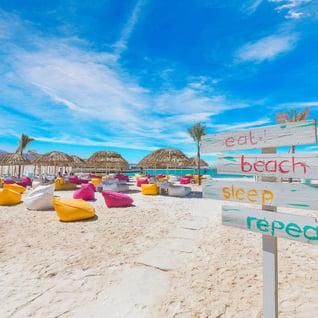 lux eat sleeo beach