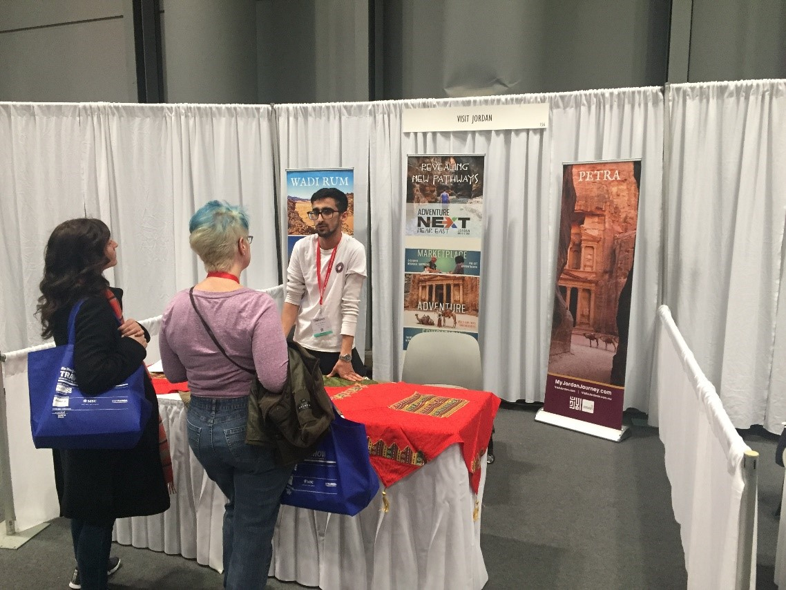 Jordan in the New York Times Travel Show – Our Newest Team Member's First Travel Show Experience